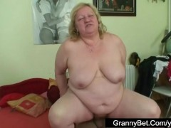 Nice hot-dog for fat granny