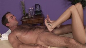 Great FootJob Action in the local Massage Parlor
