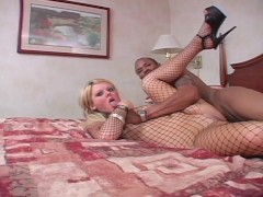 I CAUGHT A BIG COCK IN MY FISHNET OUTFIT