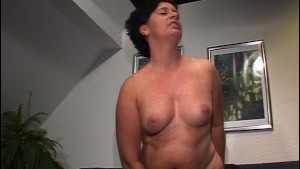 She likes the wet stuff on her tits