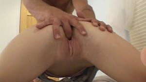 Milking his pecker with her mouth pt 1/2
