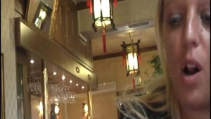 Natural exhibitionist in Chinese Restaurant-clip