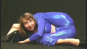 Amazing flexible Elza in spandex