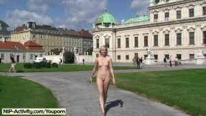 Lucie - Hot Public Nudity With Cutie Babe