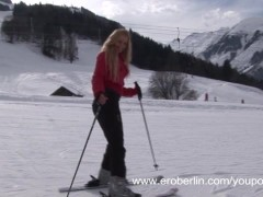 Eroberlin presents Anna Safina sexy Ski in Austria