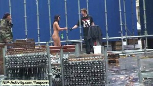 Jarka - Hot Public Nudity With Sweet Brunette