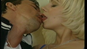 Sensual touching and licking