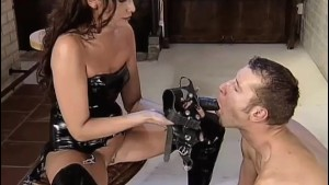 Hot Dominatrix fucking her Man!