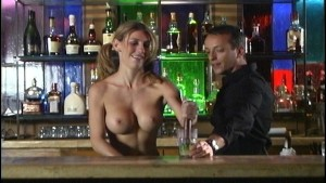 Topless barmaid