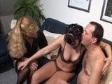 Pretty brunette gets reemed on the couch