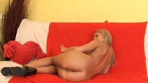 Blonde Amateur Emily Gapes her Ass in Close Up!