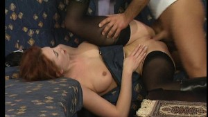 Hot redhead gets tity fucked