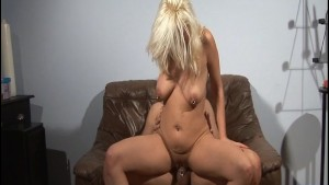 Hot blonde pounded from behind