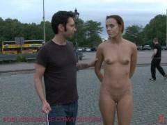 European hottie fully nude in street