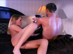 Young lady rides a big dick
