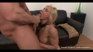 Sexy Cougar Goes To Town On Big Dick