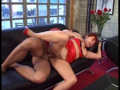 MILF fucks her sons friend
