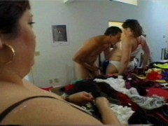 - Big women try on diffe...