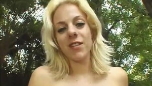 Slim Sexy Blonde Anal Fucked And Creampied