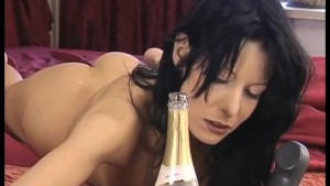 Sexy Brunette on Champagne!