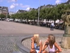2 hotties, 1 lucky guy and a tour of the city!!