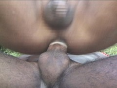Picture Pretty shemale gets fucked outside