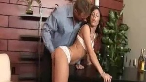 Sexy latina gets rammed in the office