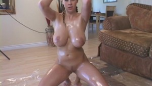 Big Tits Slippery With Baby Oil