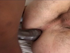 Picture White boy takes huge black cock up his ass