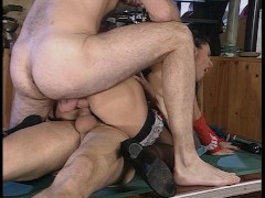 Bonus video - guy fucks girl by pool, 2 guys nail chick on pool table and 2 guys bang hot blonde