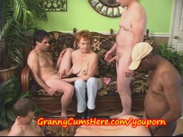 3 Grannys get GANG BANGED at Swingers Party