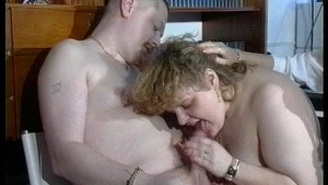 Mature BBW enjoys cock sucking (CLIP)