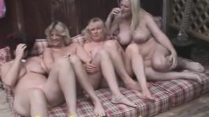 4 LESBIAN Grannies go wild in PUBLIC