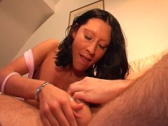 Guy fucks girl with big tits and black boots