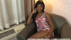 Pretty Ebony Creampied