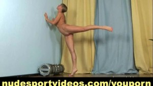 Hot amateur stripping and stretching nude