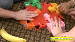 4 amateurs playing strip games