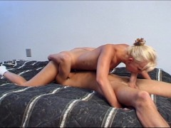 Katey plays with her clit while he fucks her ass
