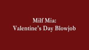 Valentine's Day Blowjob