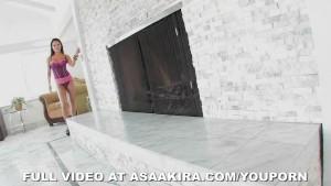 Sexy Asian Asa Akira Fingers Her Sweet Pussy