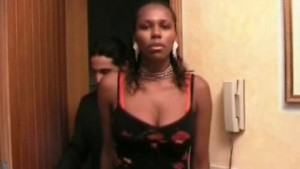 Busty ebony takes on 3 monster cocks