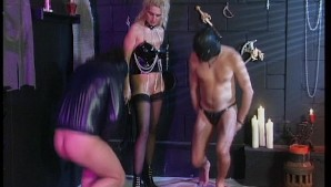 Masked Men Obey Buxom Blonde