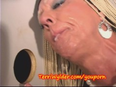 Glory Hole MILF with a GIANT CLIT