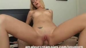 Michelle Getting Her Pussy Full of Sperm