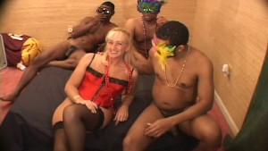 Blonde lady takes a lot of black cock in her love canal