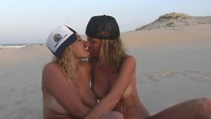Two hot lesbian on the beach