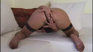horny hot blonde plays with her pussy