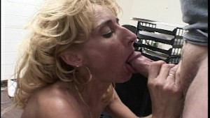 Seductive blonde works a shaft (CLIP)