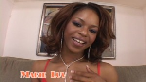 Marie Luv's fingers give her much pleasure