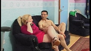 Horny MILF takes on a lot of cum